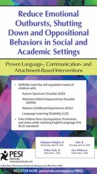 Image of Reduce Emotional Outbursts, Shutting Down and Oppositional Behaviors i