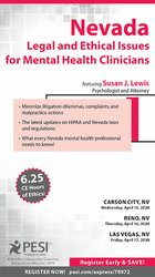 Image of Nevada Legal and Ethical Issues for Mental Health Clinicians