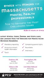 Image of Ethics with Minors for Massachusetts Mental Health Professionals: How