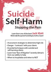 Suicide & Self-Harm: Stopping the Pain 1