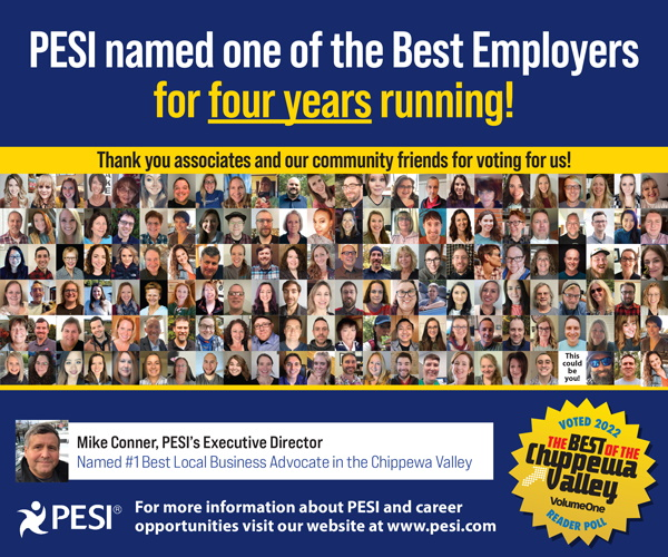 PESI named one of the Best Employers for three years running.