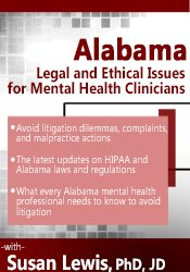 Image of Alabama Legal and Ethical Issues for Mental Health Clinicians