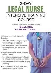 3 Day: Legal Nurse Intensive Training Course