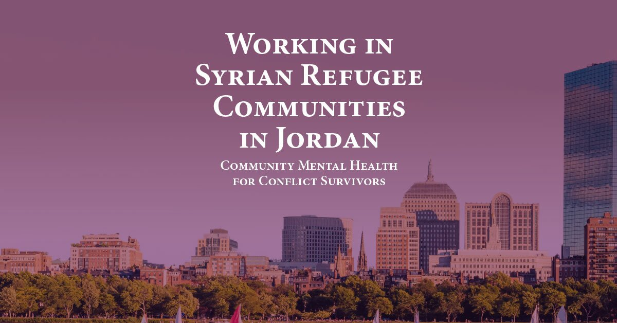 Working in Syrian Refugee Communities in Jordan: Community Mental Health for Conflict Survivors 2