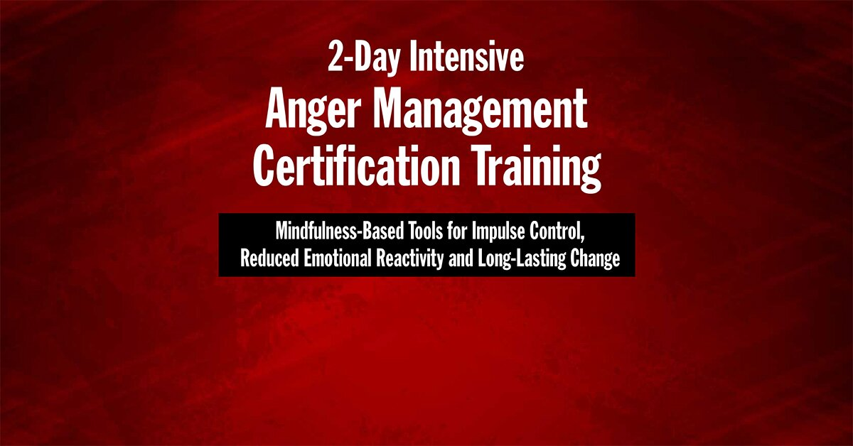 2-Day Intensive Anger Management Certification Training: Mindfulness-Based Tools for Impulse Control, Reduced Emotional Reactivity and Long-Lasting Change 2
