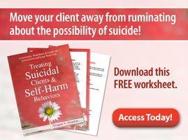 Move your client away from ruminating about the possibility of suicide! Download this FREE worksheet.