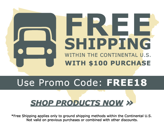 Free Shipping with $100 Purchase