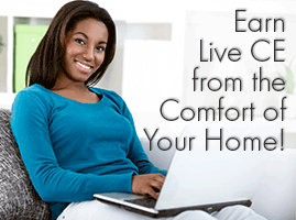 Earn Live CE from Home!