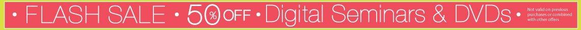 Select DVDs & Digital Seminars 50% Off