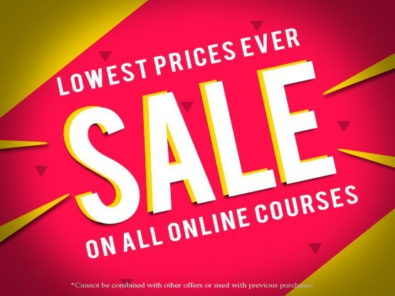 Click here to shop the lowest prices ever on Online Courses